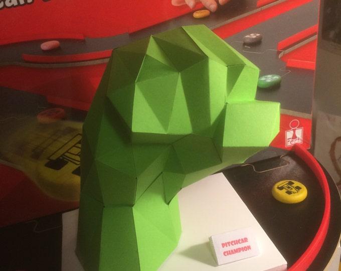 Hulk Hands 3D Papercraft Model - Download PDF Template - DIY Decoration Left And Right Hands