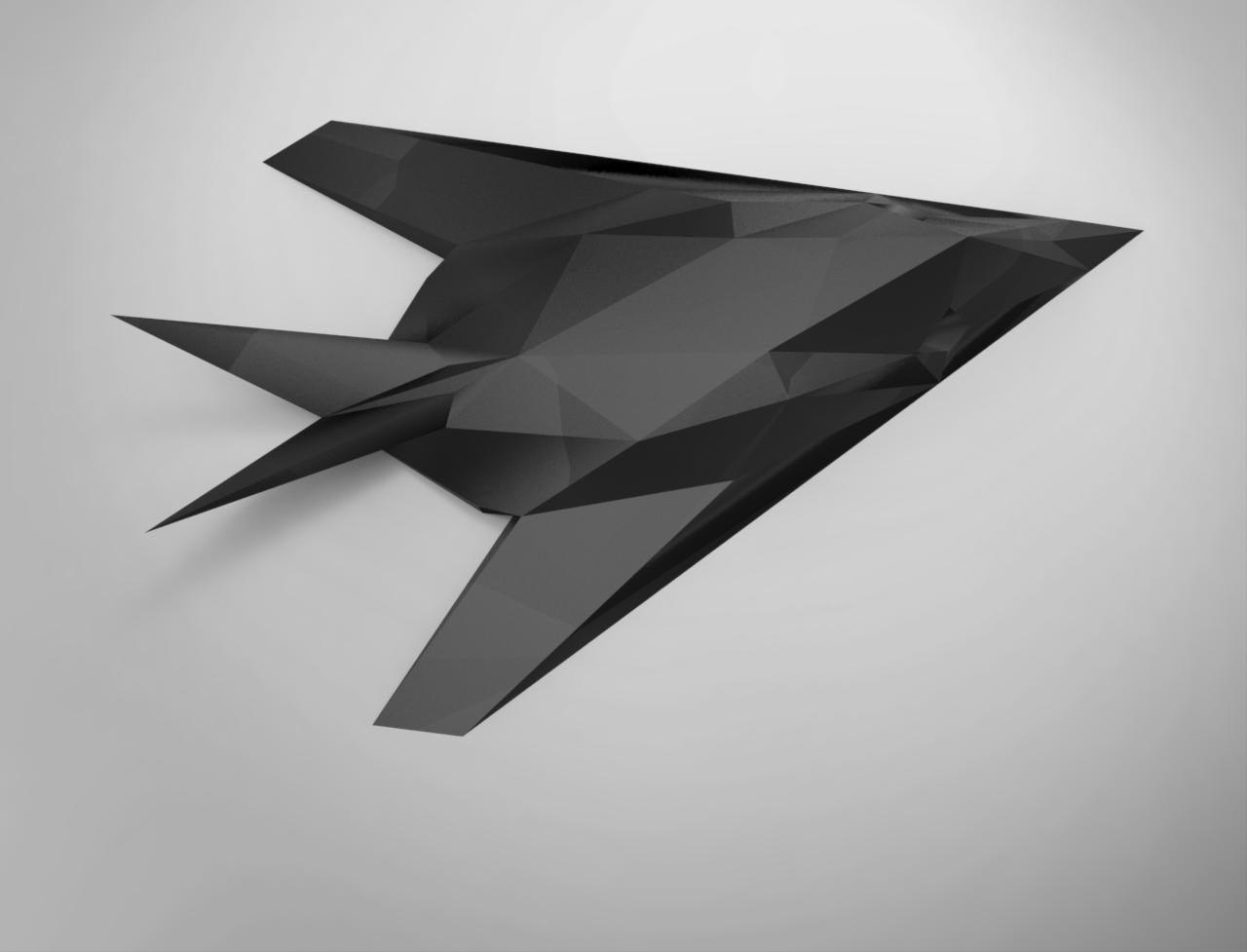 Printable Paper Craft Model Of F 117 Nighthawk Fighter Jet