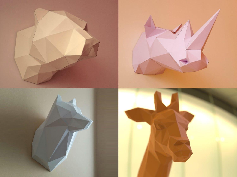 Bear Giraffe Wolf and Rhino 3D Papercraft Models Download ... - photo#49