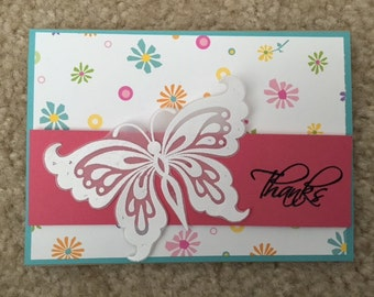 Thank you butterly  -  Greeting Card