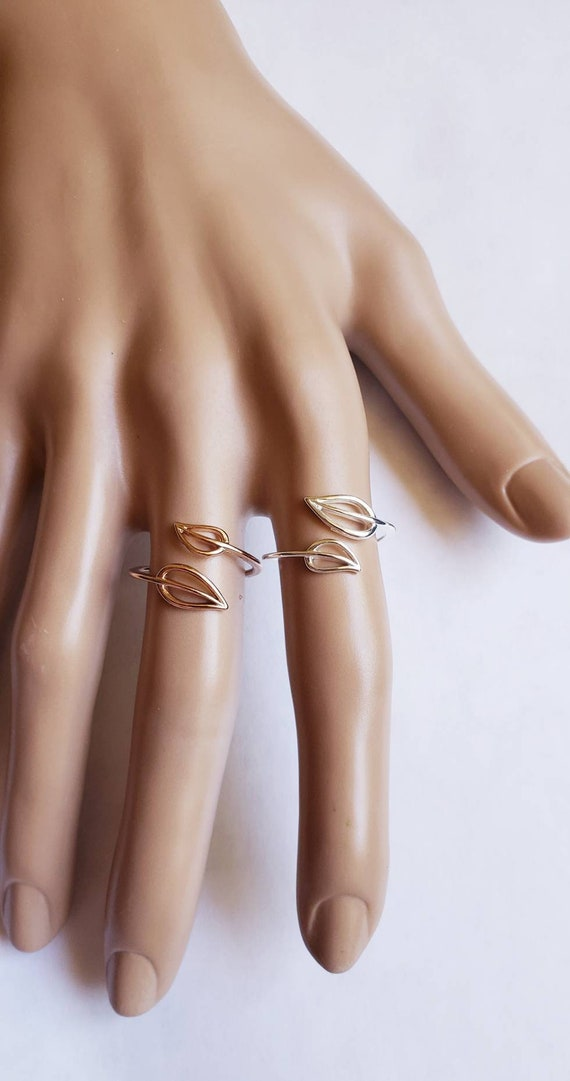 DAINTY OLIVE RING Adjustable Cross over gold Midi Toe ring jewelry Minimalist Ring Gift for her Bridesmaids gift click for more colors!