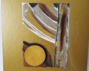 """Mixed Media Painting / Collage / Texture / Decoration / """"Directional 3"""""""