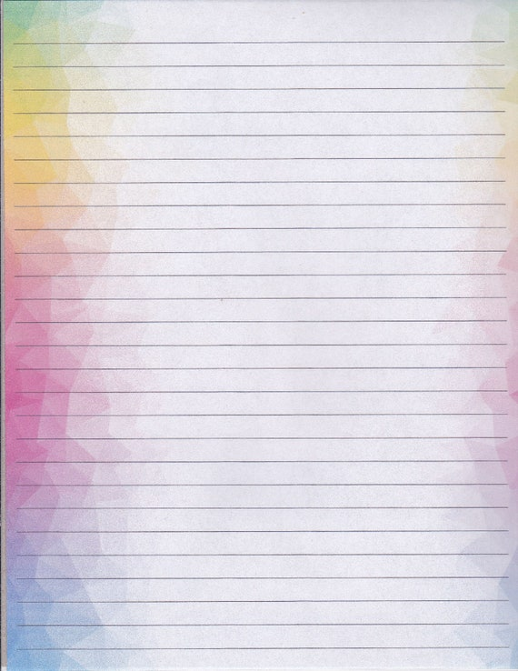 Classical Designed Edging Fine Lined Stationery 8.5 X 11 25 Sheets and 10 Color Co-ordinated Envelopes