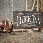"""Rustic Wood Sign """"The Chick Inn"""" for your Chicken Coop, Hen House, Garden or Indoor Decor  13""""x 7-1/4""""x 3/4"""""""