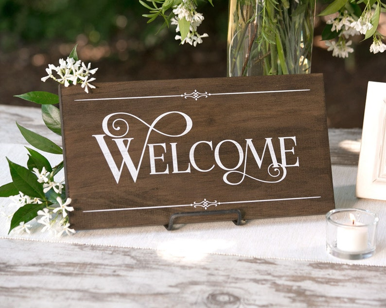 Rustic Chic Welcome Wood Sign for your Front Door image 0