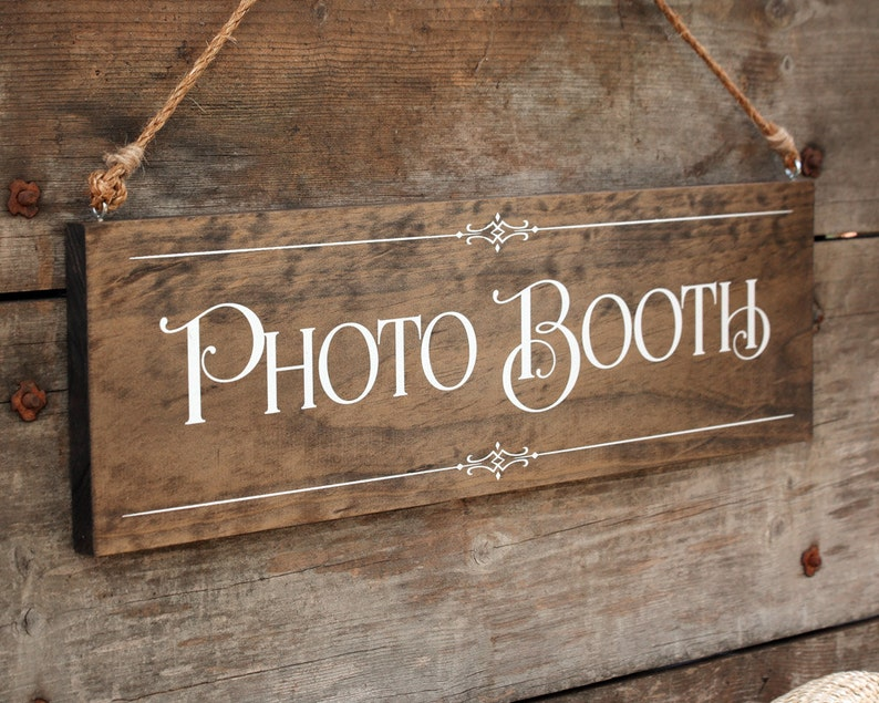 Rustic Chic Wedding Photo Booth Wood Photo Prop image 0