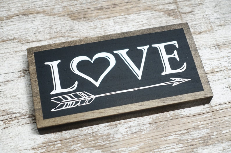 LOVE Sign  Wood Love Chalkboard Style Sign for your Home image 0