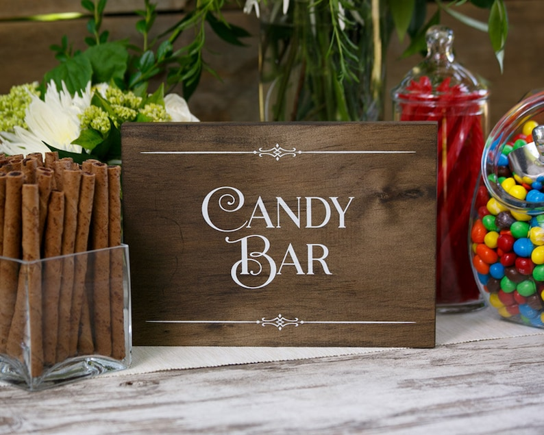 Rustic Chic Candy Bar Wood Sign for your Western image 0