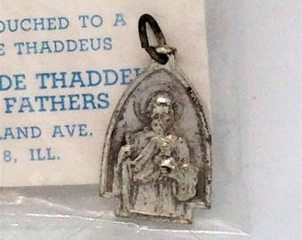 St Jude Medal, Third Class Relic, Shrine of St Jude Thaddeus, Touche to a Bone of St Jude, Religious Medal