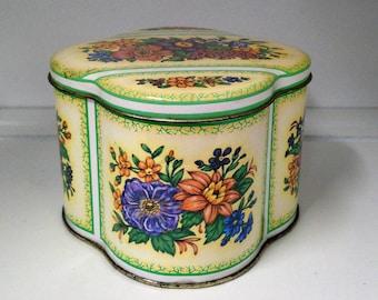 Vintage Storage Tin, Daher England Floral Collectible Tin, Home Decor Storage Tin, English Tea Tin