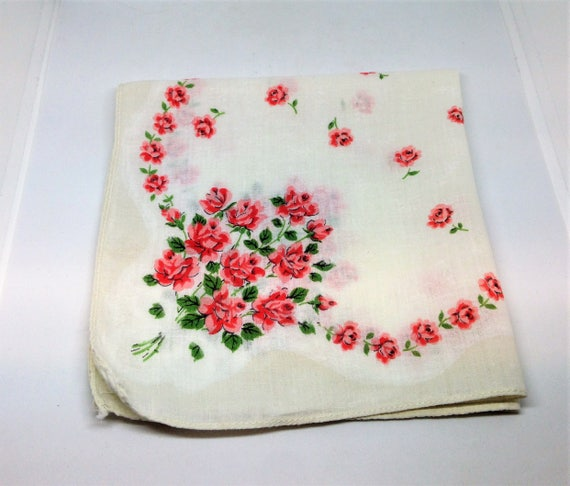 Beautiful New Rose Shaped Handkerchief~Hankie!