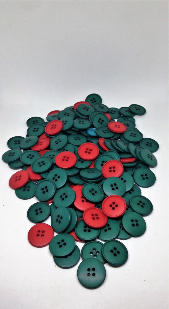 151 Red Green Buttons Christmas Buttons Craft Buttons Holiday Buttons Buttons For Embellishing Sewing Buttons