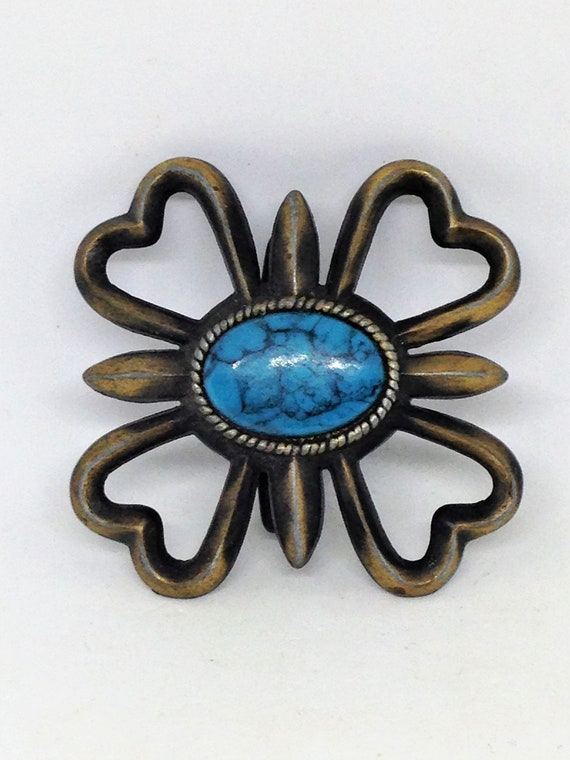Boucle de ceinture en laiton, Turquoise Pierre d Agate, Turquoise Faux en  laiton d11ce1594d8