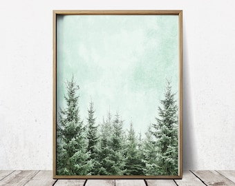 Wall Art Poster Forest Print Forest Wall Art Forest Art Tree Print Tree Art
