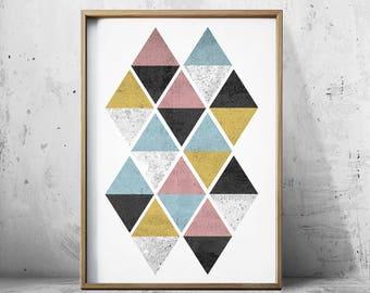 Scandinavian Print Nordic Posters Scandinavian Art Prints Geometric Art - Geometric Prints - Black And White Print - Op Art - Geometric art