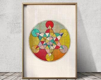 Mandala Prints Sacred Geometry Art Mandala Art Sacred Geometry Prints Colorful