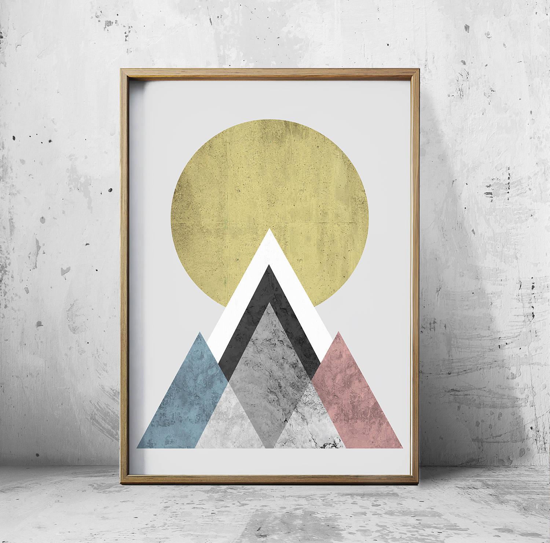 Wall At Prints Posters Geometric Wall Art Prints Abstract   Etsy