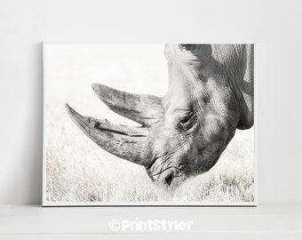 Rhinoceros Rhino Print Safari Nursery Rhino Poster Rhino Art Animal Print Nature Print