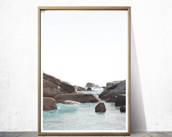 Clifton Beach Decor Ocean Print Beach Print Ocean Decor Beach Art Ocean Art Beach Photography