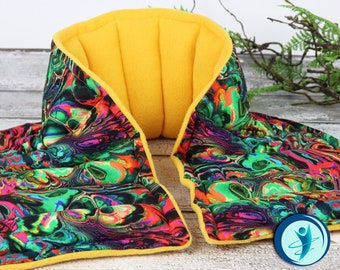 Relaxation at it's BEST! Heated Neck Wrap for Relaxation & Relief. Microwave Heating Pad for Arthritis, Muscle Tension, Stiff Neck and more!