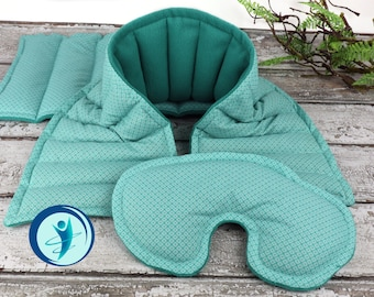 Reusable Microwave Heating Pad for Relaxation, Stress Relief and Comfort. Natural Flax Rice filled Bag Set. (Fabric & Set Options Available)