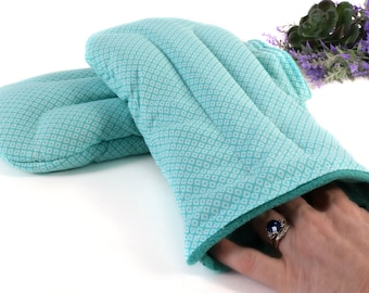 Microwave Hand Warmer Mitts for Pain Relief due to Rheumatoid Arthritis, Carpal Tunnel, Tech Stress and More! (Set of 2)