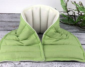 Neck Shoulder Heating Pad. Neck Wrap for Natural Pain Relief and Relaxation.  (Fabric Option Available)