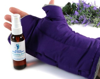 Wrist & Thumb Heating Pad or Cool Pack for Pain. RA, Carpal Tunnel and Tendinitis Relief Wrap. (Single Adjustable Wrap)