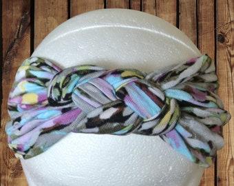 Women's Headband/Turban Premium Pattern Sailor Knot Watercolor Speckle Multicolor Dot Jersey