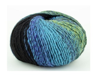 from Pro Lana 6,60 Euro100g PL6FE488 sock yarn 150g shades of blue with a bit white and gray 6ply