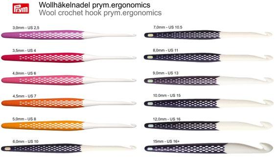 wool crochet hooks prym.ergonomics in 12 sizes