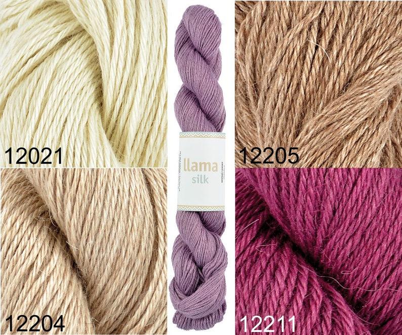 cdc47646a6c LlamaSilk Lama & mulberry silk by Jarbo 50g /1.8oz | Etsy