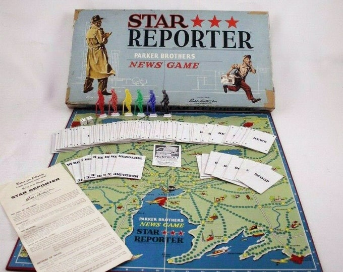 Vintage (1954) Star Reporter board game published by Parker Brothers.  Complete with instructions.