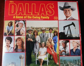 Vintage (1980) Dallas board game based on the long-running TV show of the same name.  Complete, largely unpunched.