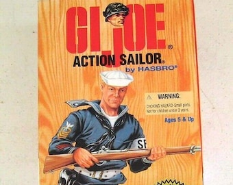 Vintage (1995) Hasbro GI Joe WWII 50th Anniversary Action Sailor 045747. New in box, unopened unused.