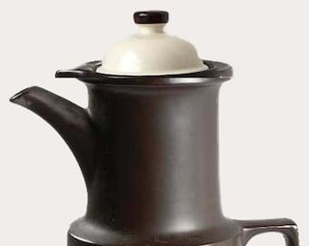 Vintage (1970s) Doverstone England Heather Gates mid-century-modern style coffee pot.