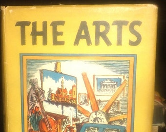 Vintage (1937) The Arts hardcover first-edition art history book signed by author Hendrik Willem Van Loon. Simon & Schuster NY. Complete.