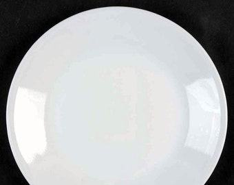 Vintage (1970s) Corelle | Corning USA Winter Frost White all-white bread, dessert, or side plate. Sold individually.