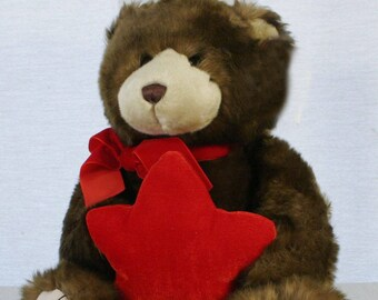 Vintage Gund 46410 When You Wish Upon a Star Musical Make-a-Wish Foundation teddy bear w/gift pouch. Sold by Mappins   Peoples Jewelers.