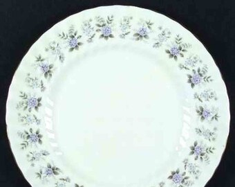 Vintage (1970s) Minton Alpine Spring large dinner plate made in England. Sold individually.