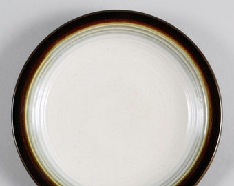 Vintage (1960s) Franciscan | Interpace USA Chestnut stoneware bread-and-butter, dessert, or side plate. Made in England.