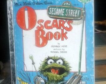 Vintage (1975) Oscar's Book | Sesame Street | Muppets first-edition hardcover children's book. Little Golden Books. Complete.