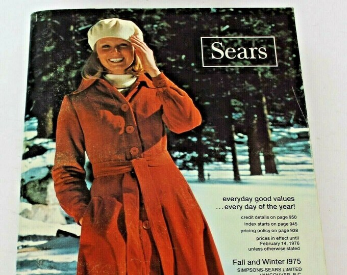 HOLD! Set of six vintage (1970s) Sears catalogues. Fall and Winter, Spring and Summer issues. Volumes shown below.