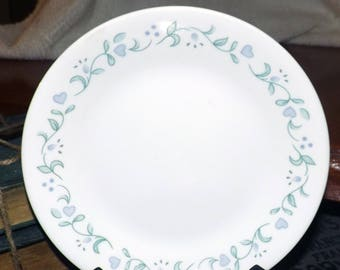 Vintage (1997) Corelle | Corning | Corning Ware Country Cottage dinner plate. Lavender flowers and hearts.  Made in USA