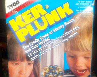 Vintage (1992) Kerplunk board game published by Tyco.  Complete.