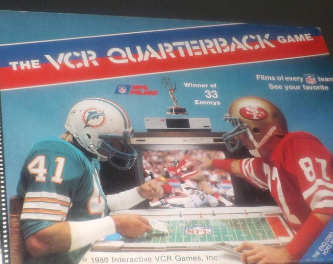 Vintage (1986) The NFL VCR Quarterback game by Interactive Games Inc. Complete.