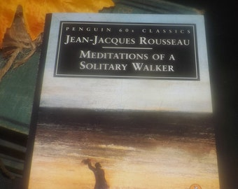 Vintage (1995) paperback mini book Jean-Jacques Rousseau Meditations of a Solitary Walker. Penguin 60s Classics