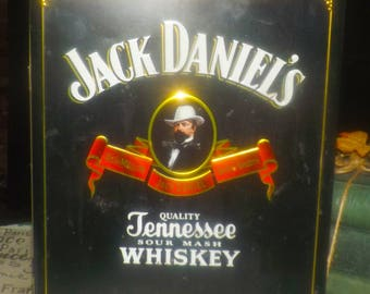 Vintage (1997) Jack Daniels Old Time Tennessee Sour Mash Old No 7 Whisky tin. Hinged lid. Country Gentleman. Tin made in the USA.