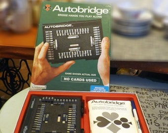 Vintage (1970s) Grimaud Autobridge Game for Beginners.  Made in France by JMS France Cartes.  Complete. Excellent condition.