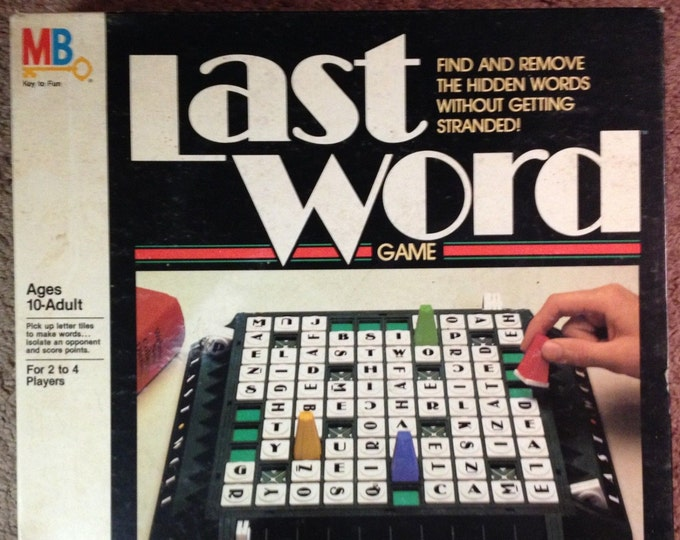 Vintage (1985) Last Word Board Game published by Milton Bradley.  Complete.